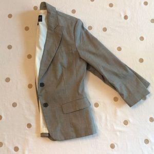 Grey 3/4 sleeve blazer Banana Republic